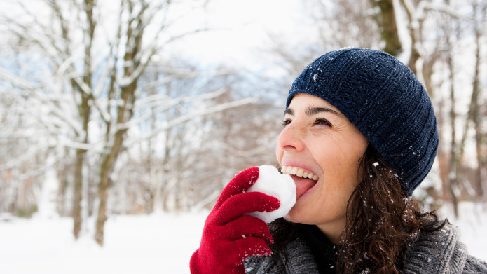 Dreamming of eating snow